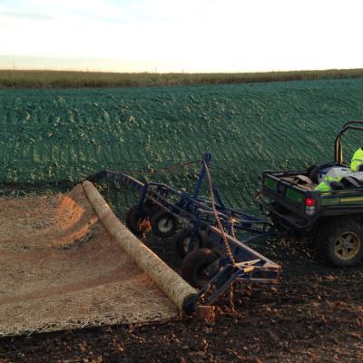 Erosion Control Blanket Installation